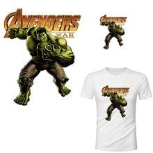 Avengers hulk thor ijzer op patches voor kleding marvel warmteoverdracht stickers voor T-shirt Amerika movie transfert thermocollants