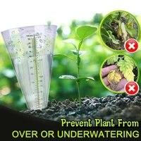 conical rain meter gauge plastic transparent measuring cup for outdoor garden 50 millimetre mjj88