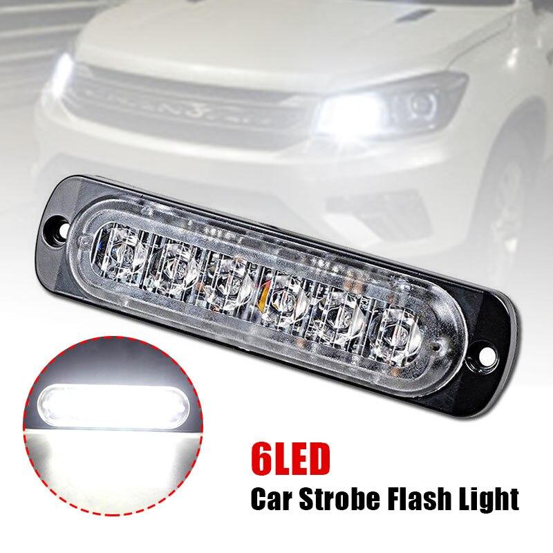 DC12V-24V Lamp Side Lamp Auto Strobe Truck LED 6LED 18W Car Accessories Warning Light Emergency Lighting Side White light
