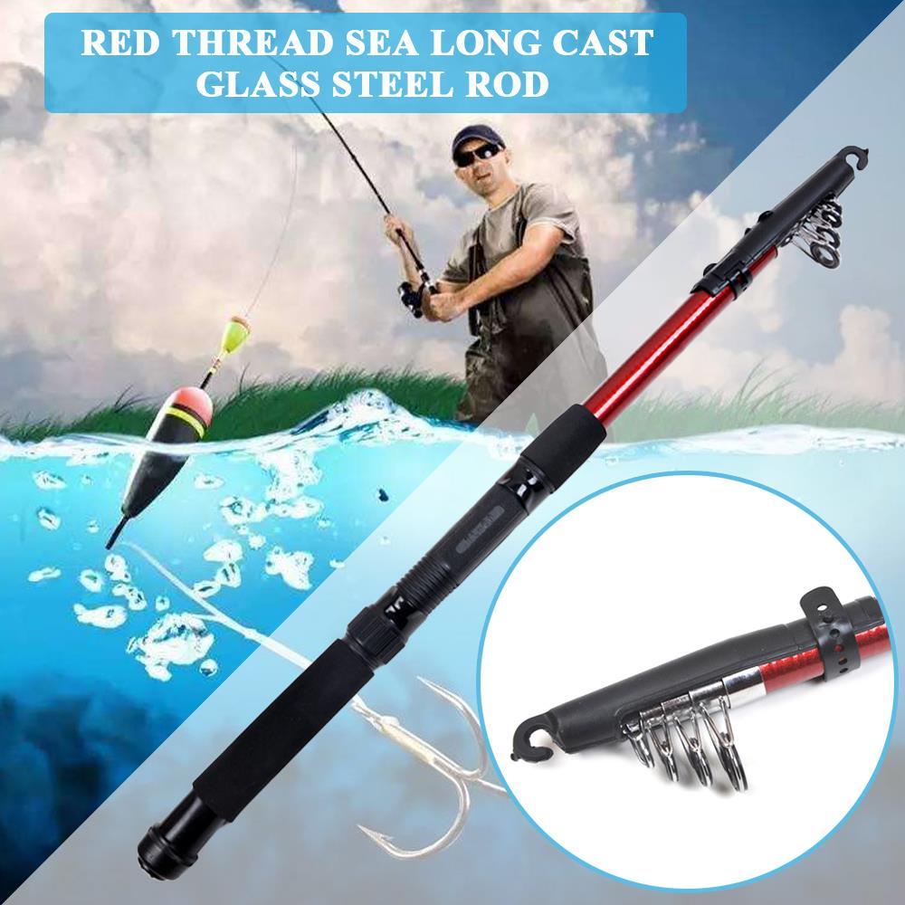 Equipo de pesca de caña de pescar duradera 1 Uds. Regalo de agua dulce pescador Spinning caña de pescar artículos deportivos portátiles