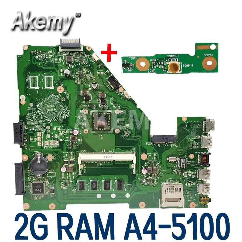 Amazoon X550EA Laptop motherboard für For Asus X550EA X550EP X550E X552E Test original mainboard 2G RAM A4-5100