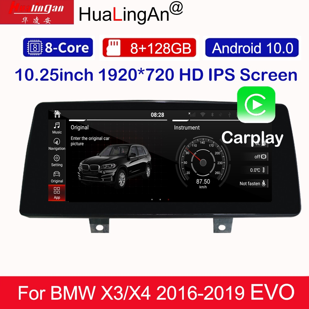 1015 Android 10 Car Multimedia DVD Stereo Radio Player GPS Navigation Carplay Auto For BMW 5/6 G30 G31 G32 16-today EVO system