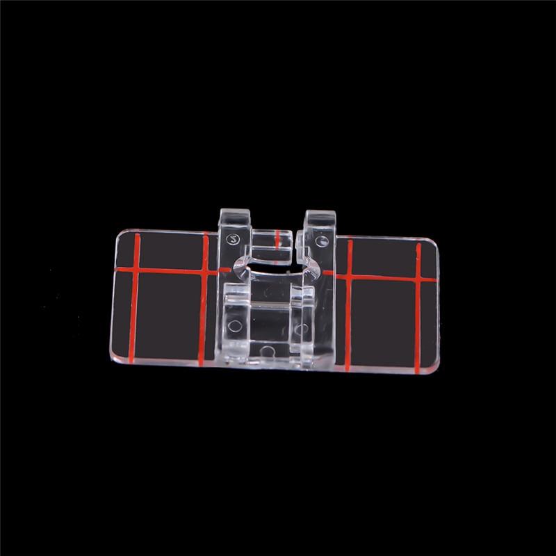 Pressoir de pied Simple en plastique transparent   Pour Machine à coudre domestique multifonctions, outil de couture au point parallèle