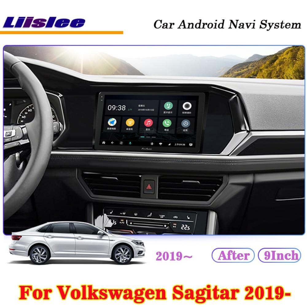 Liislee 9 Polegada android para volkswagen sagitar 2019 2020 tela ips carro estéreo carplay câmera gps wifi navi mapa de navegação mídia