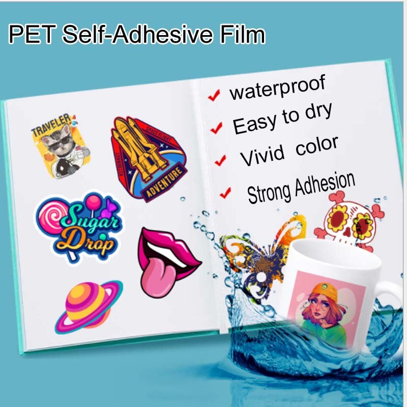 Inkjet PP synthetic paper self-adhesive matte glossy silver PET self-adhesive label paper A4 tear-proof laser waterproof self-ad