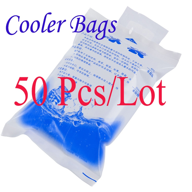 ice pack 10pieces insulated in customized reusable dry cold ice pack gel cooler bag for lunch box food cans wine medical 50 Pcs/Lot Reusable Gel Ice Bag Cool Pack High Quality  PE Cans Food Wine 1000ML Fresh Cold Cool Cooler Bags Insulated