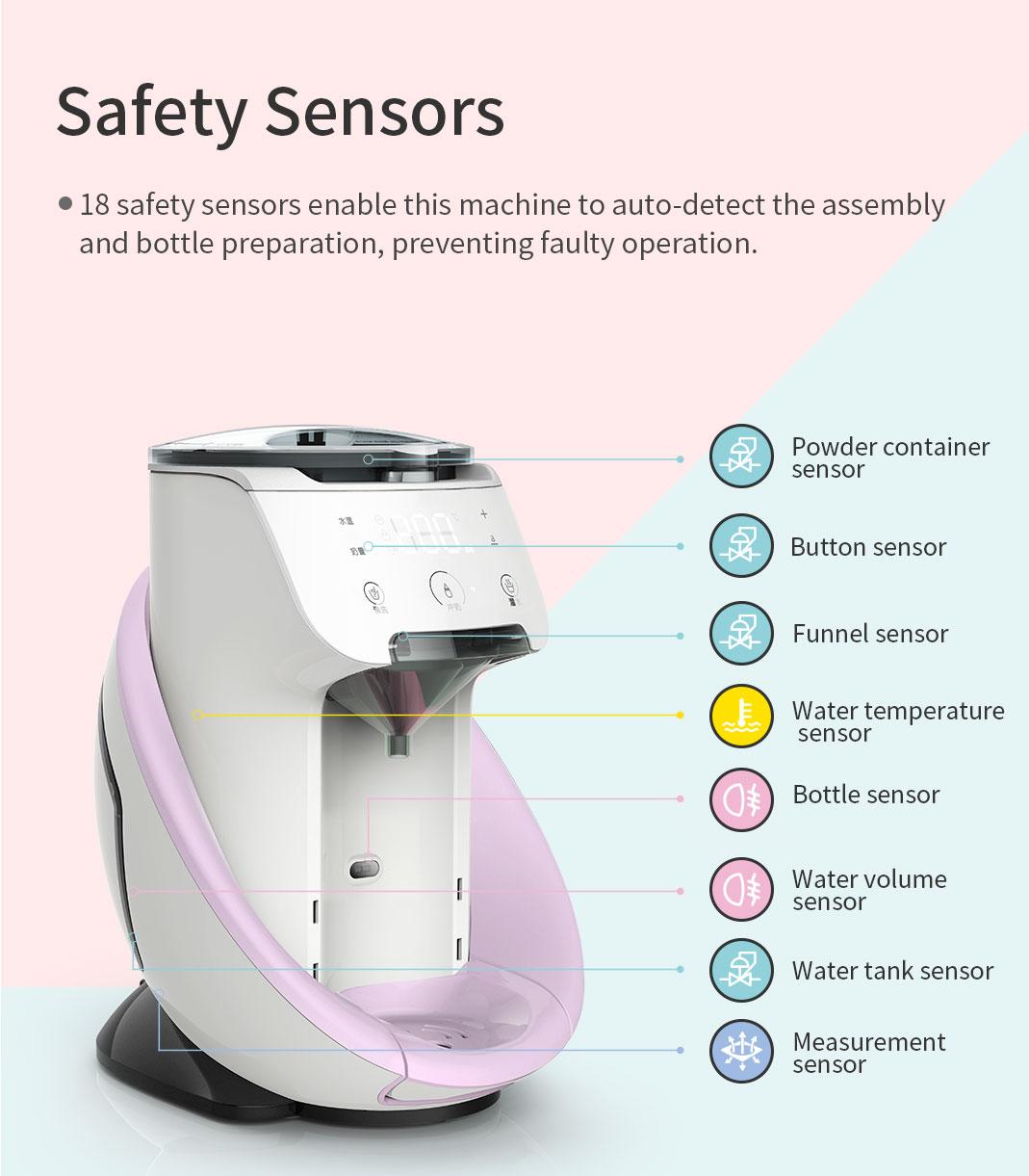 Burabi Baby Formula Dispenser Machine, Smart Automatic WiFi App Control baby Formula Milk Mixer Warmer Maker Machine enlarge