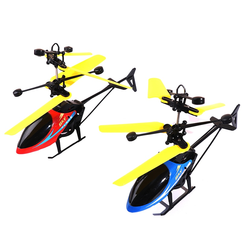Mini LED Light Toys RC Drone Flying RC Helicopter Aircraft Suspension For Kids
