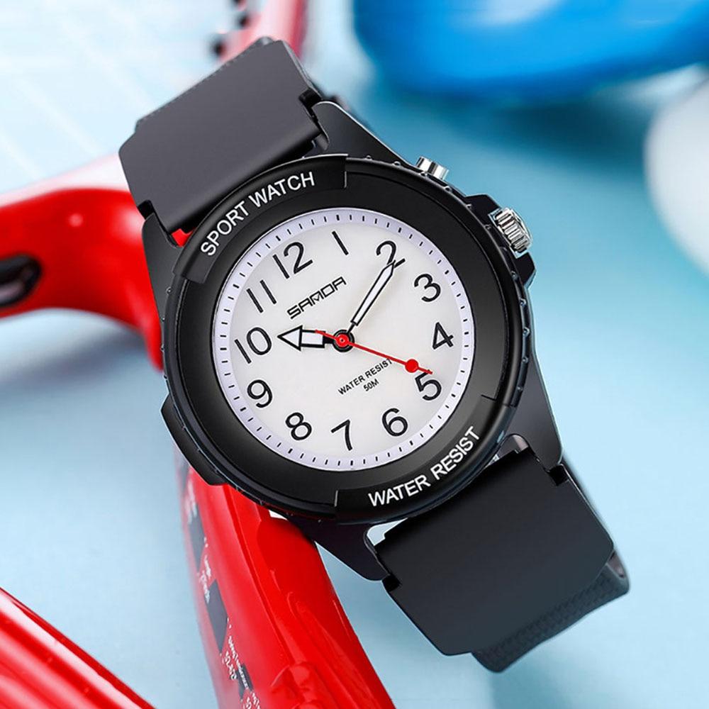 SANDA Women's Watch Hot Sale Quartz Movement Unisex Watches Luminous LED Ladies Watch Simple Dial Wristwatch Reloj Mujer enlarge