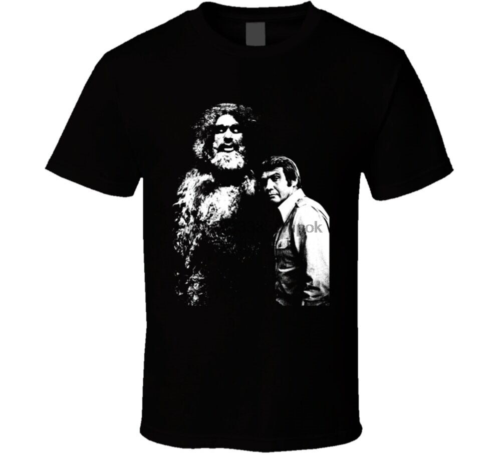 Camiseta de hombre de seis millones de dólares Sasquatch Bigfoot 70s Tv
