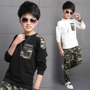 Children Clothing Sets For Boys Camouflage Sports Suits Spring Kids Tracksuits 2021 Teenage Boys Sportswear 4 6 8 9 10 12 Years