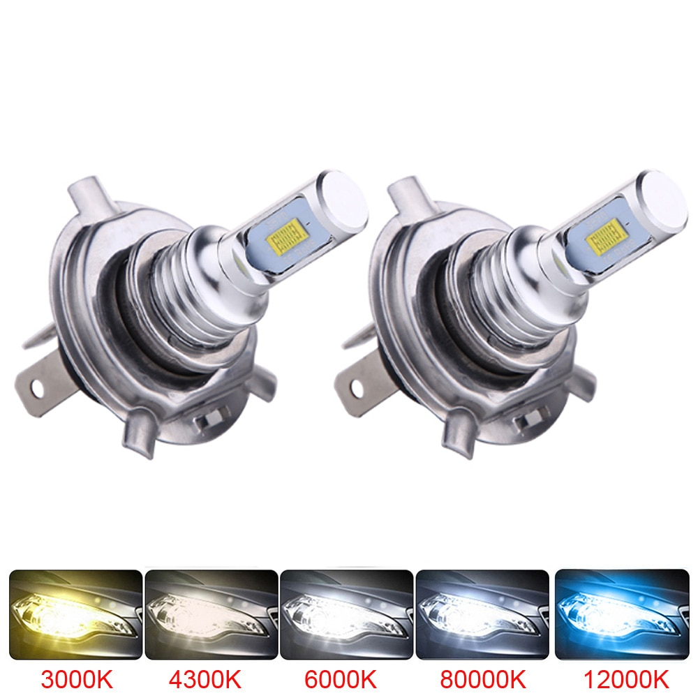 2Pcs H4 H7 H11 H8 H9 9006 HB4 H1 9005 HB3 Mini Car Headlight Bulbs LED Lamp with CSP Chip 12000LM Auto Fog Lights 6000K 8000K
