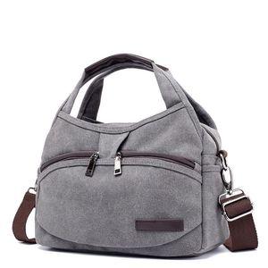New Canvas Bags for Women Brand Handbags Women Crossbody Bags Multifunction Small Summer Handbags Vintage Crossbody Bags S2171