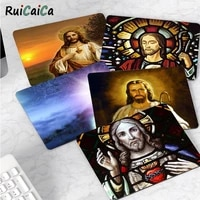 ruicaica non slip pc jesus christ art god small mouse pad pc computer mat top selling wholesale gaming pad mouse