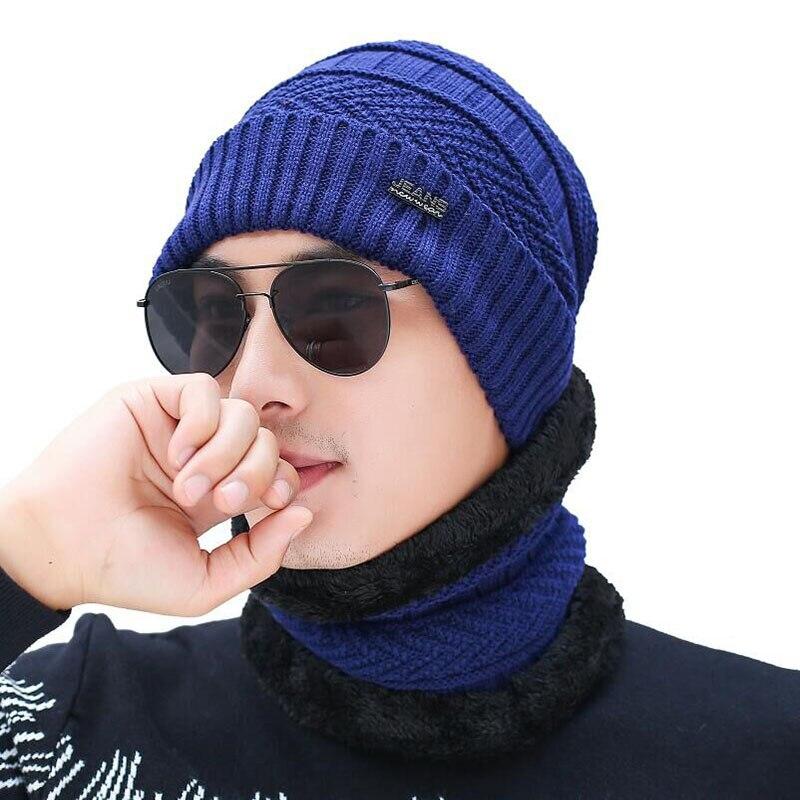 2019 зимние шапки Теплые Лыжные шапки шарф шапка вязанные шапки маска Gorras Теплые Мешковатые шапки для мужчин и женщин Skullies Beanie шапки
