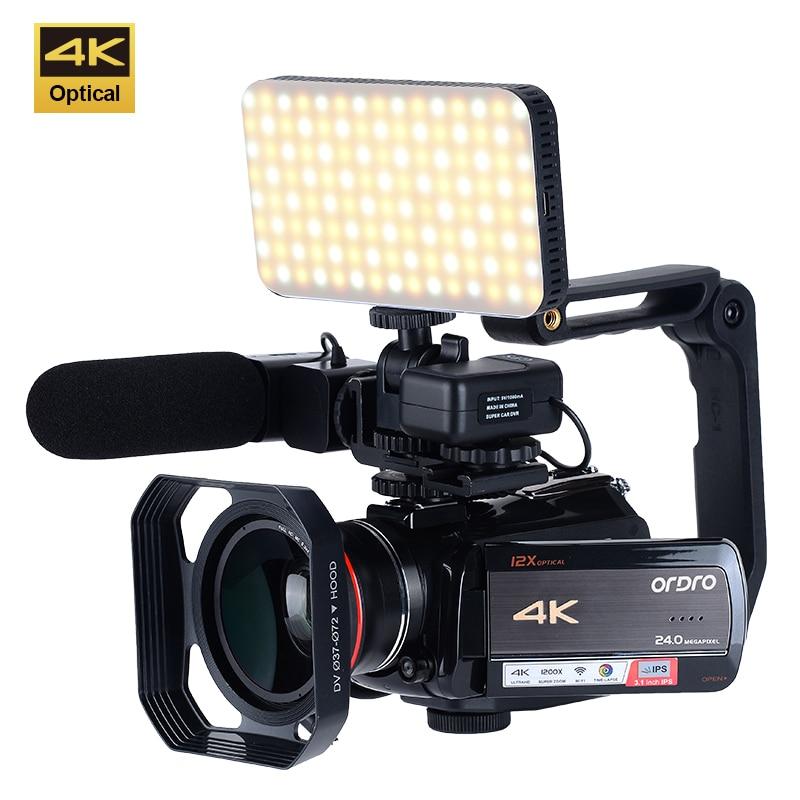 كاميرا فيديو رقمية عالية الدقة 4K احترافية عالية الدقة 1080P تعمل باللمس مع خاصية كشف الوجه والوجه