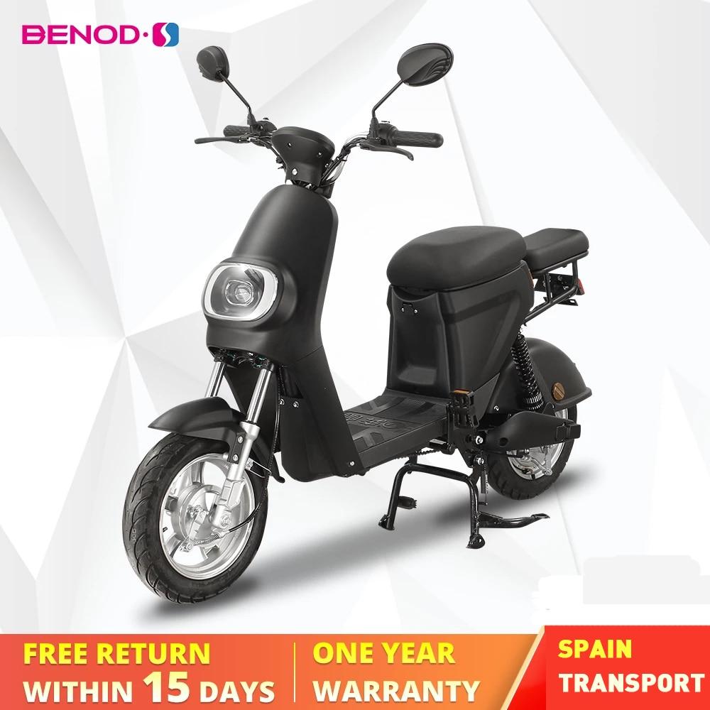BENOD-Moto eléctrica para adulto, batería de litio, 25 km/h, Scooter Eléctrico, Motor,...
