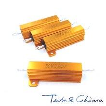 Boîtier en aluminium pour coque   5 pièces, 5.1R 5.1ohm 5.1 27R 27ohm 27 R Ohm 50W, résistance au bobinage, RX24