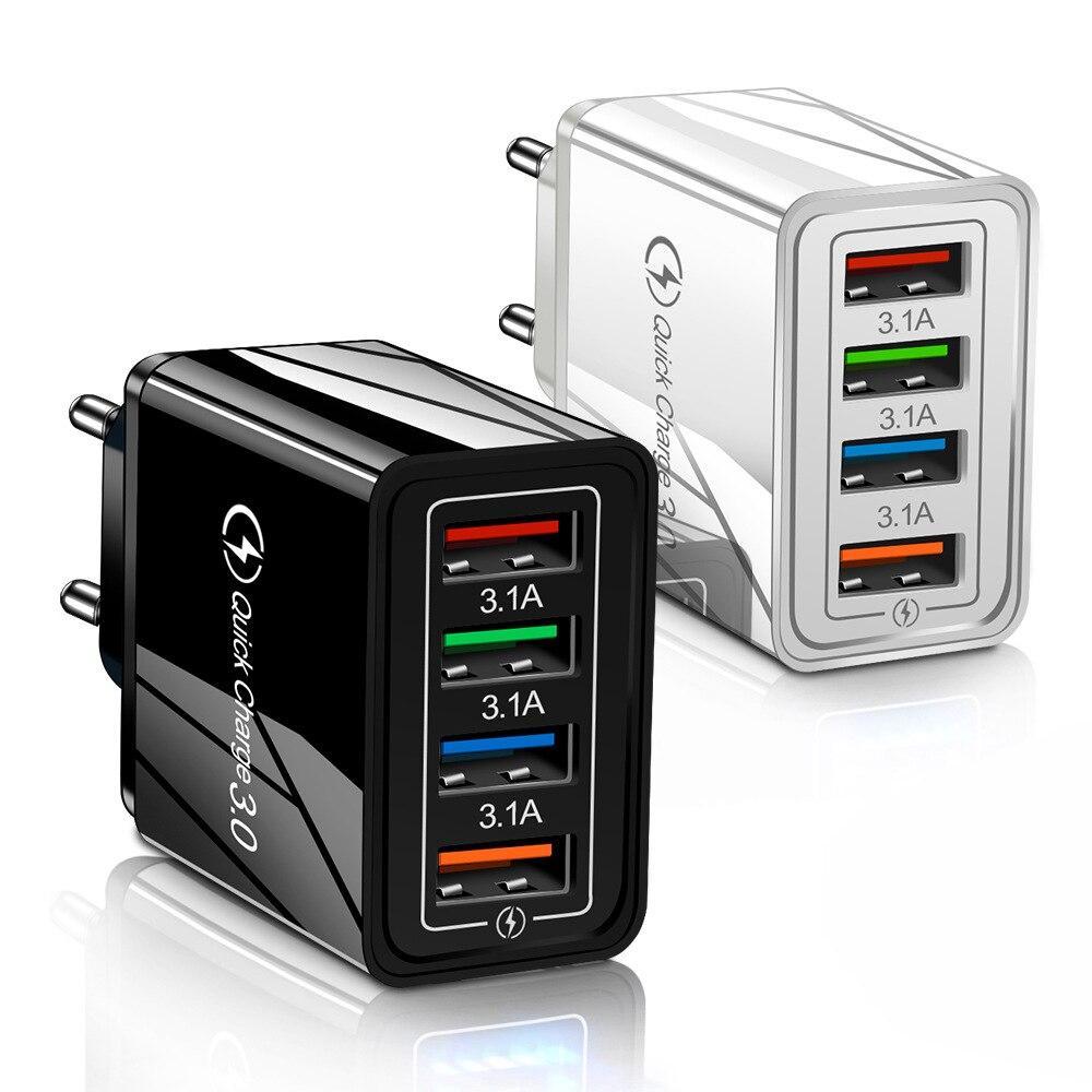 Ue/eua plug usb carregador de carga rápida 3.0 do telefone móvel carregador de carregamento rápido para o iphone 11 huawei p30 tablet portátil adaptador de parede