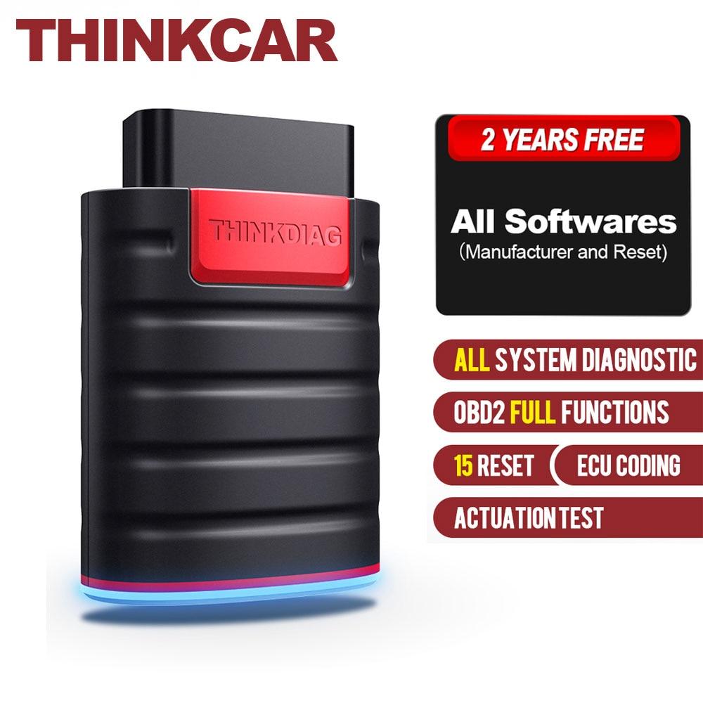 THINKCAR Thinkdiag OBD2 Code Reader Full Systems Free 2 Years Scanner Bluetooth OBDII/EOBD Automotive Car Auto Diagnostic Tools