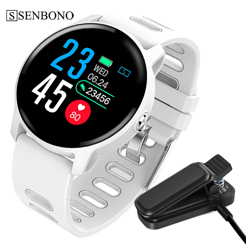 SENBONO النساء الرجال IP68 مقاوم للماء الرياضة عداد الخطى ساعة ذكية جهاز تعقب للياقة البدنية سوار مراقب معدل ضربات القلب ساعة Smartwatch الفرقة
