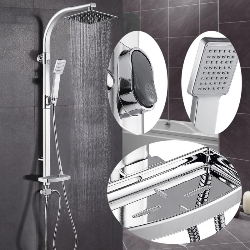 20*47*106 سنتيمتر سبائك الألومنيوم مع دش يدوي صندوق الصابون دش مجموعة حمام الشاشة عالية الضغط رذاذ فوهة اكسسوارات الحمام HWC