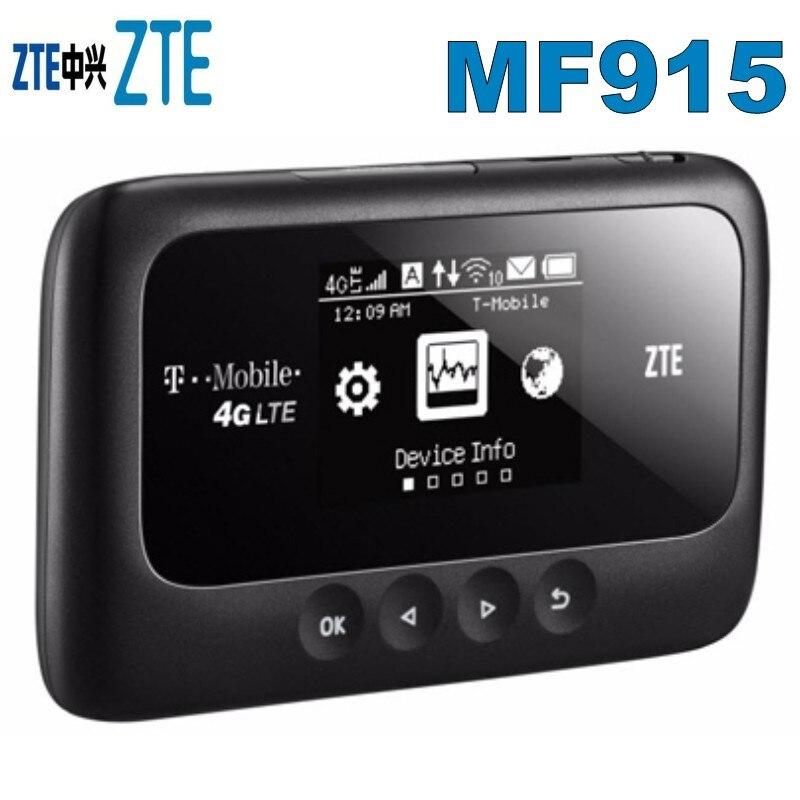الأصلي غير مقفلة ZTE MF915 النقاط الساخنة الهواتف النقالة 4G LTE FDD العصابات 2/4/12/17 (النطاقات 700, 1700, 1900)