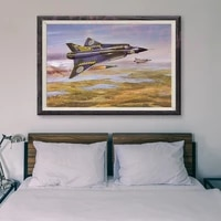 Peinture classique retro 34 operations de vol davion de guerre T056  affiche en soie personnalisee  decoration murale  cadeau de noel