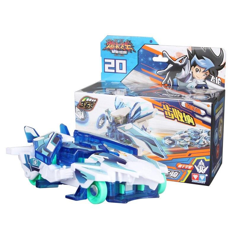 Abs screechers explosão selvagem velocidade deformação carro figuras de ação dpti morphs captura bolacha 360 graus explosão transformação carro brinquedo