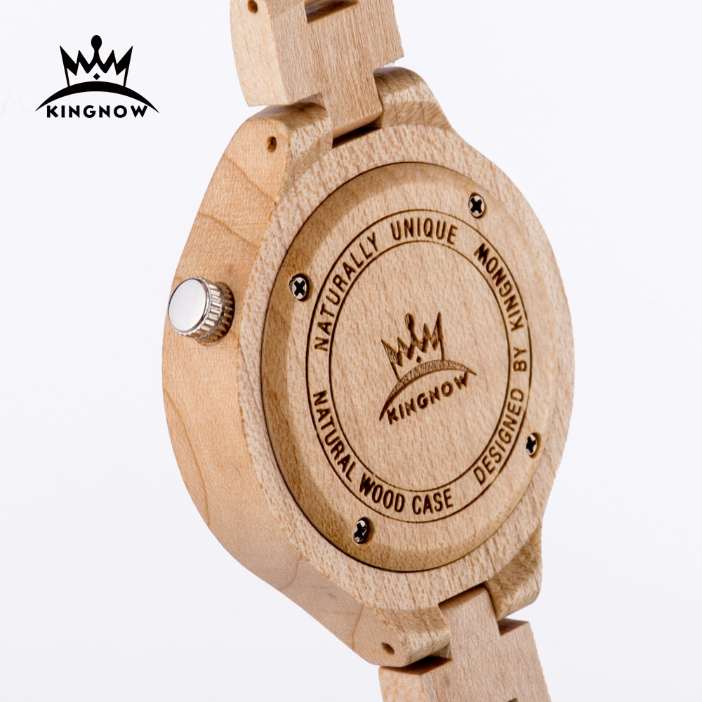 KINGNOW Women's Watches Quartz Wrist Watch For Ladies Luxury Wristwatch Elegant Woman Watch Female Timepieces Wooden Box Gift enlarge