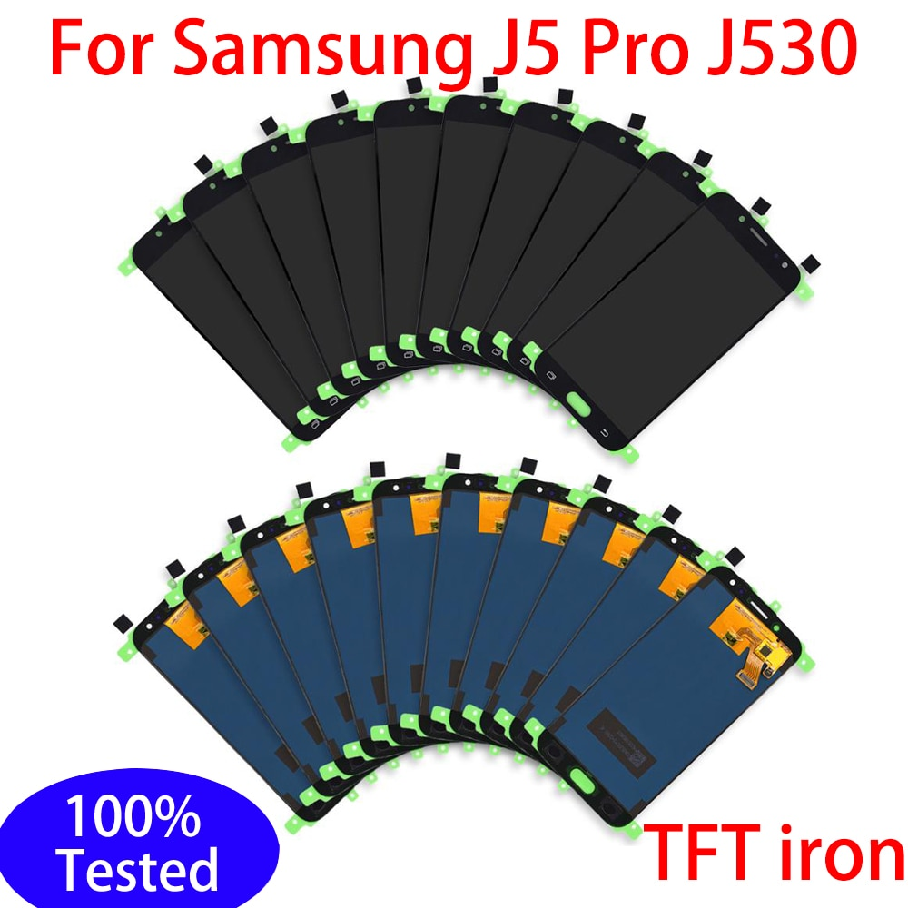5/10 قطع TFT الحديد شاشة LCD لسامسونج غالاكسي J5 برو 2017 J530 J530F J530Y J530M عرض تعمل باللمس محول الأرقام الجمعية