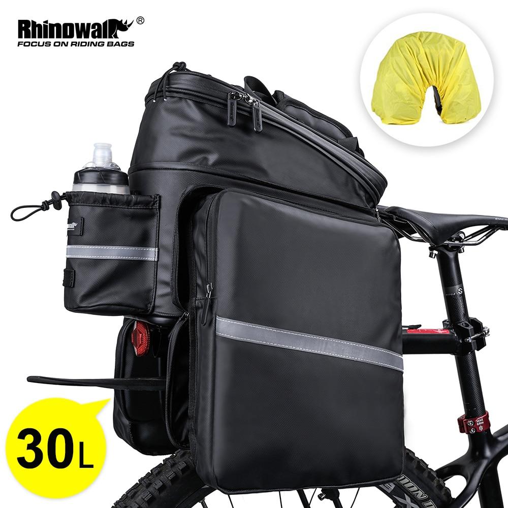 Rhowalk دراجة أكياس سعة كبيرة مقاوم للماء الدراجات حقيبة مقعد دراجة الجبلية رف جذع حقيبة حامل الحقائب حقيبة دراجة قابلة