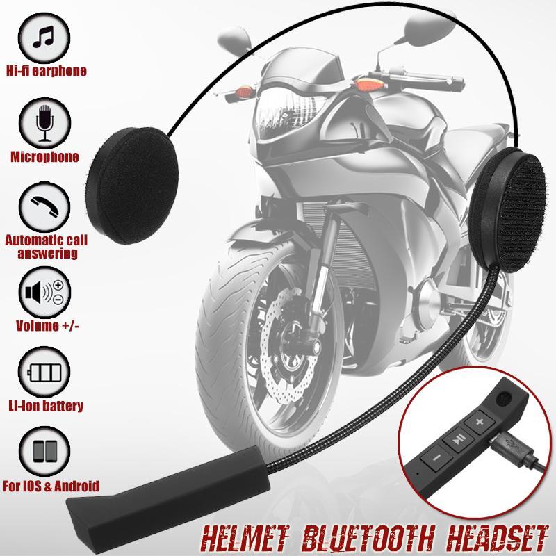 Auriculares inalámbricos bluetooth para casco de motocicleta, altavoz de intercomunicación para casco con micrófono manos libres, auriculares estéreo