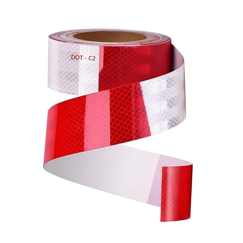 Светоотражающая лента DOT-C2 красный/белый отражатель на прицепы меры предосторожности, безопасности Предупреждение видимость FilmTruck автомоб...
