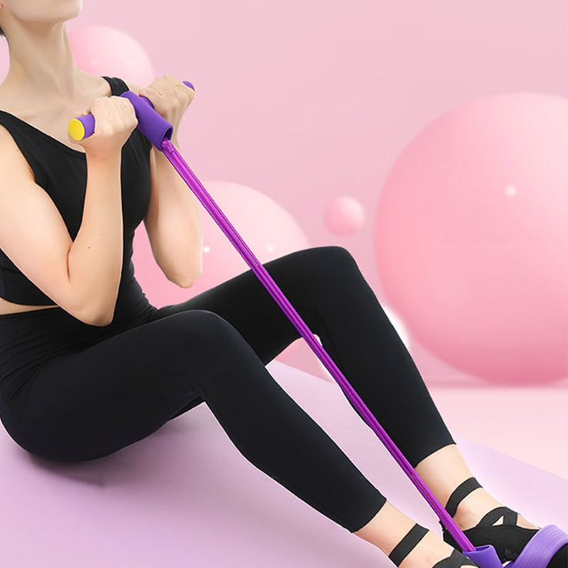 Fitness Pedal Exerciser Sit-up Exercise Band Elastic Pull Rope Equipment Tummy Bodybuilding Multi-function Tension Rope