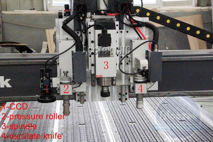 Factory Europe Quality Cnc Router 4x8 Vacuum Plastic Acrylic MDF Plywood Leather Cloth Cnc Vibrating Knife Cutting Machine enlarge