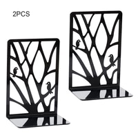 black metal hollow out non slip bookend bracket heavy book end office book stopper holder shelf bookcase home office supplies