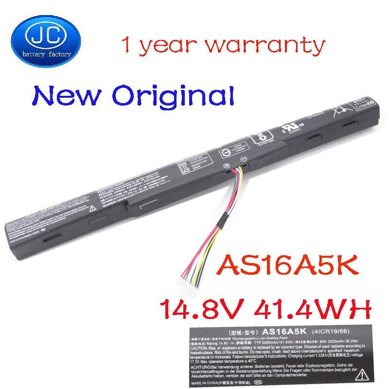 JC Original AS16A5K AS16A7K AS16A8K batería del ordenador portátil para Acer Aspire E15 E5-475G E5-575G E5-575T E5-575TG E5-774 E5-774G E5-575