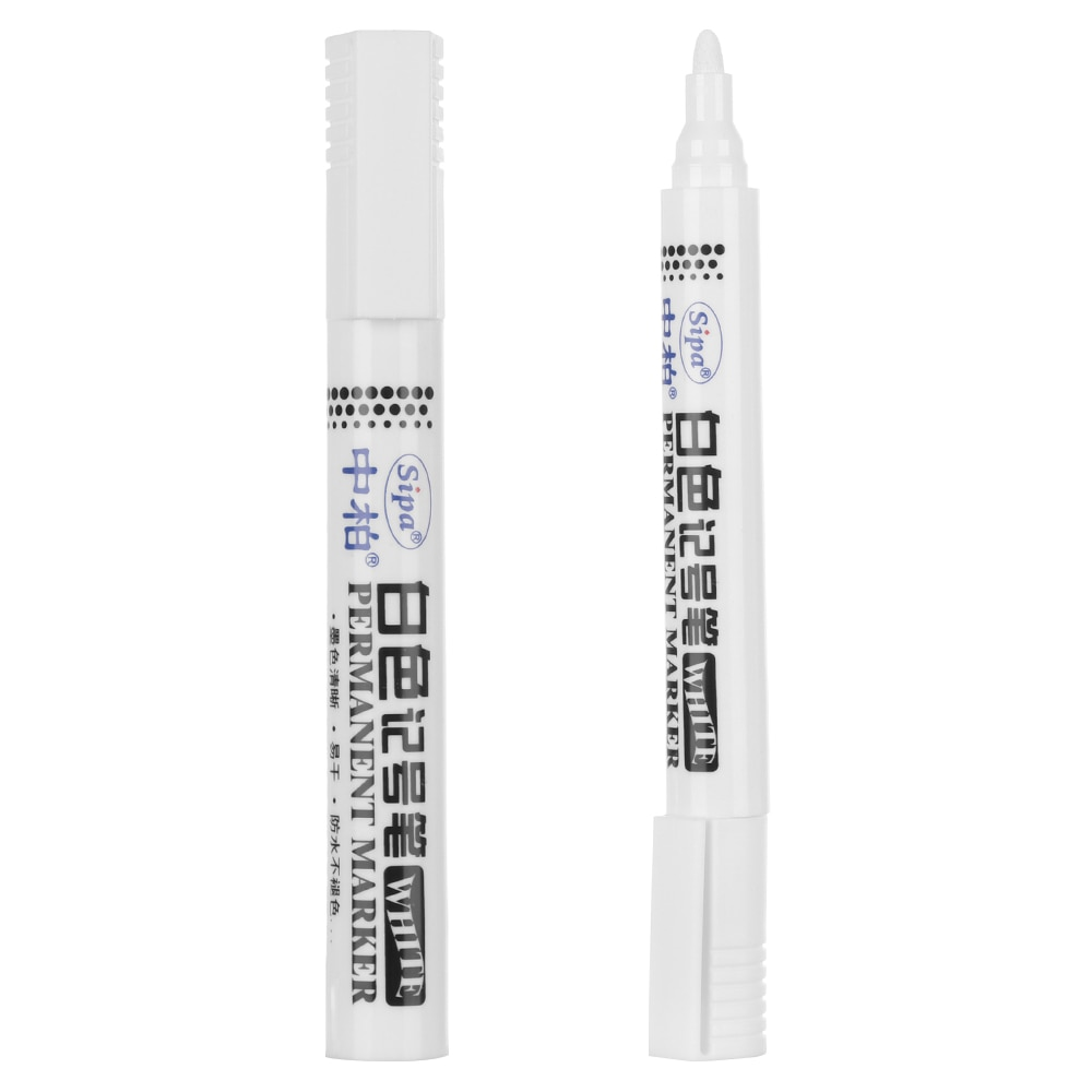 1/3 Uds Metal impermeable permanente pintura rotulador blanco bolígrafo estudiante suministros aceitoso de secado rápido rotulador neumático rodadura marca