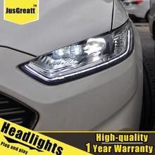 Faros LED para Ford Mondeo, 2013-2016, Mondeo HID para faros delanteros Bi Xenon, luces de circulación diurna dinámicas