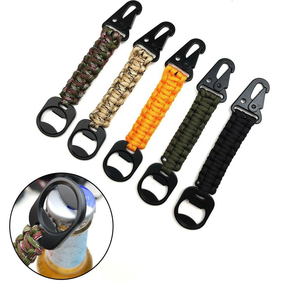 Высококачественный аварийный узел наружный карабин военный Паракорд шнур брелок открывалка для бутылок брелок кольцо Веревка Брелок