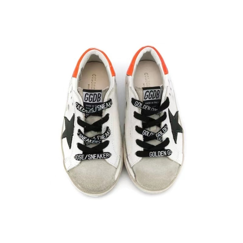 Spring and Summer New First Layer Cowhide Children's Old Small Dirty Shoes for Boys and Girls Casual