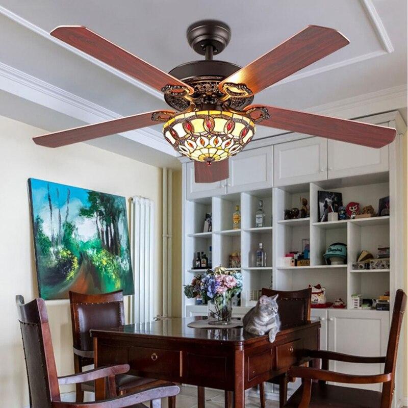 "52"" Indoor Ceiling Fan Light LED Chandeliers Lamp Home Lighting Decor Remote"