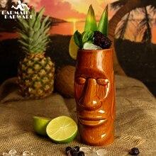 500ml Hawaii Tiki Becher Cocktail Tasse Bier Getränke Becher Wein Becher Keramik Tiki Becher