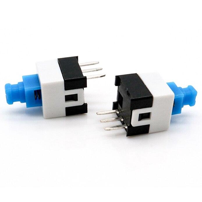 10 unids/lote 3 PIN 7*7*12mm DIP 12V 0.5A Interruptor de botón de...