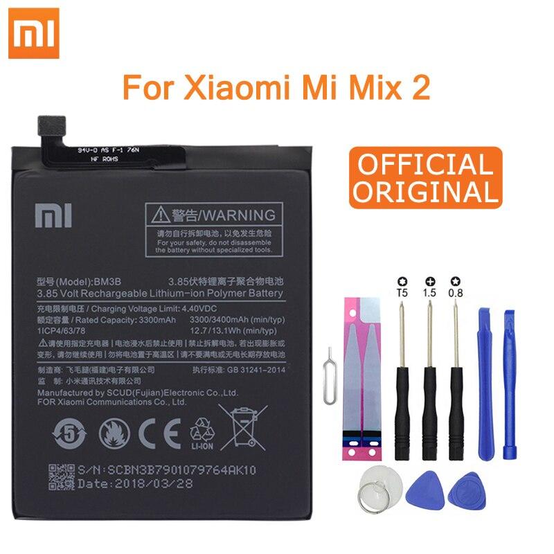Xiao Mi оригинальная запасная батарея для телефона BM3B для Xiaomi Mix 2/Mix 2S 3300 мАч, высокоемкие Аккумуляторы для телефонов, Бесплатные инструменты