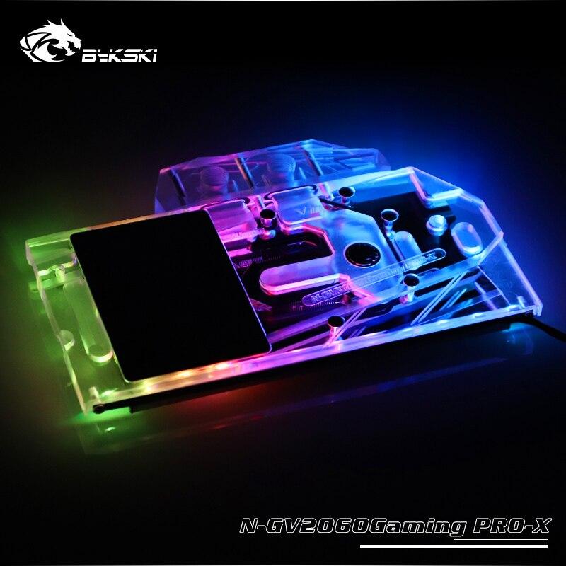 BYKSKI Full Cover Graphics Card Block use for Gigabyte RTX2060 Gaming OC PRO 6G Rev 2.0 /GTX 1660Ti Windforce OC 6GB / RGB Light