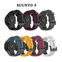 Bracelet outdoors Sports Silicone watch strap For Suunto 5 watchBand Smart watch Replacement Silicon