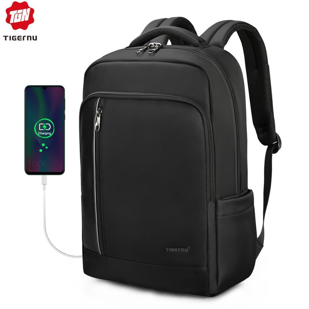 Tigernu carregamento urbana 15.6 polegada RFID antifurto saco para escola mochila laptop macho saco negócio de viagens mulheres