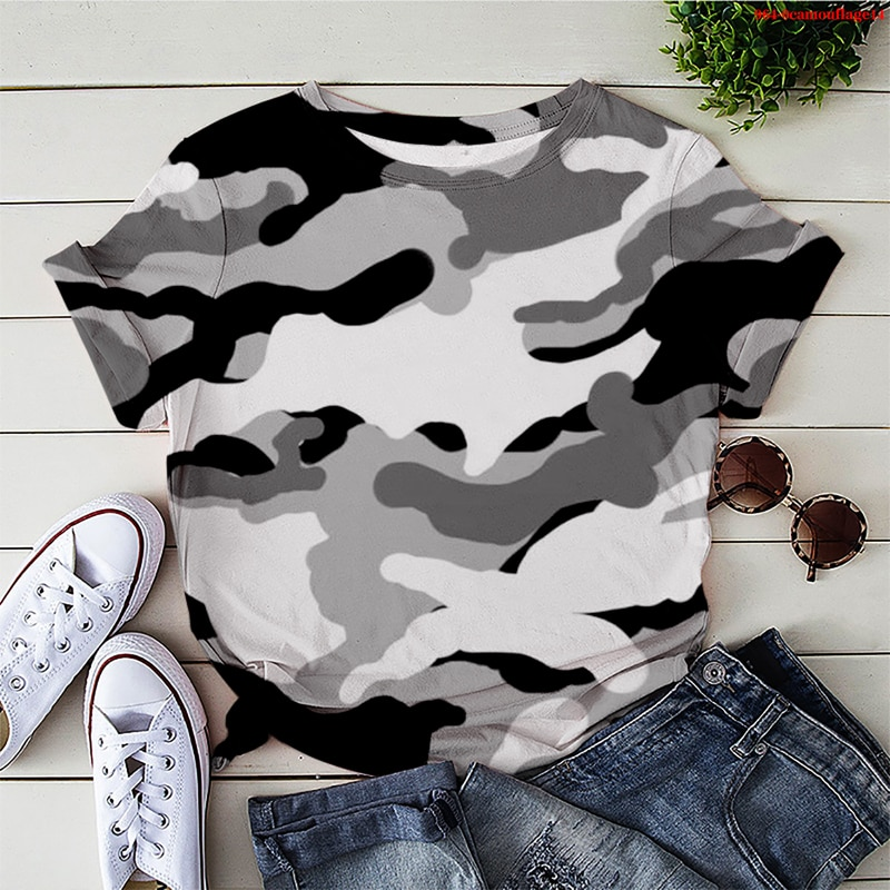 2021 Men T-shirt Summer Casual Short Sleeve O-neck Shirt Streetwear Women Men Tees Harajuku Funny  Camouflage Print T Shirt Male high quality french bulldog frenchies printed t shirt for men male dogs animal lovers short sleeve o neck cotton funny t shirt